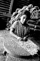 school-aged child working